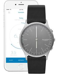 Skagen - Jorn Hybrid Smart Leather Strap Watch, 41mm - Lyst