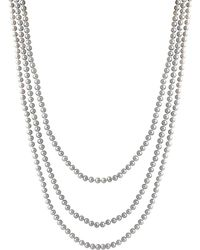Splendid - 4-6mm Gray Freshwater Endless Pearl Necklace - Lyst