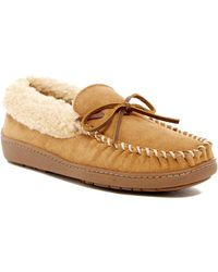 Minnetonka - Corey Trapper Faux Fur Lined Slipper (men) - Lyst