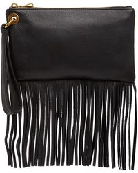 Hobo - Flutter Leather Fringe Wristlet - Lyst
