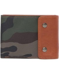 Fossil - Ethan Snap Flap Bifold Wallet - Lyst
