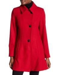 Cece by Cynthia Steffe - Rose Tulip Wool Blend Coat - Lyst