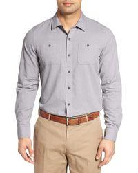 Travis Mathew - Gotemba Slim Fit Herringbone Sport Shirt - Lyst