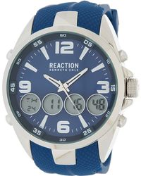Kenneth Cole Reaction - Men's Analog/digital Silicone Strap Watch, 50mm - Lyst