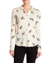 Stateside - Floral Button Down Shirt - Lyst