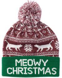 Bioworld - Meowy Christmas Pompom Beanie - Lyst