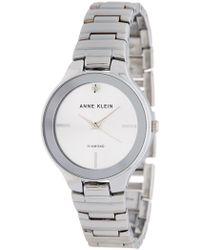 Anne Klein - Women's Diamond Accent Bracelet Watch, 32mm - Lyst