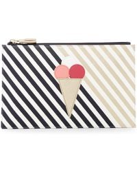 Shiraleah - Sorrento Faux Leather Ice Cream Zip Pouch - Lyst