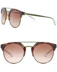 Emporio Armani - Unisex Clubmaster 53mm Metal Frame Sunglasses - Lyst