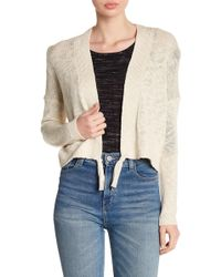 Lucky Brand - Knit Tassel Cardigan - Lyst