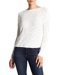 Lyst - Cupcakes And Cashmere Textured Twist Back Sweater in White 45d37b9db