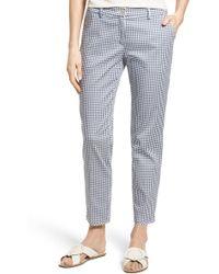 Brax - Maron Gingham Stretch Cotton Pants - Lyst
