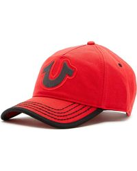 1db18225da1 Lyst - True Religion Overlap Horseshoe Baseball Cap in Red for Men