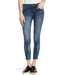 Kut From The Kloth - Zip Cuff Ankle Skinny Jeans - Lyst