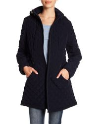 Laundry by Shelli Segal - Quilted Fleece Lined Hooded Jacket - Lyst