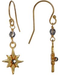 Chan Luu - 18k Gold Plated Sterling Silver Crystal Accented Starburst Dangle Earrings - Lyst