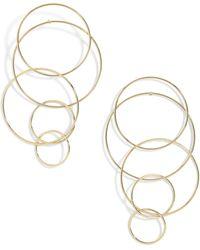BaubleBar - Mixed Size Layered Hoop Earrings - Lyst