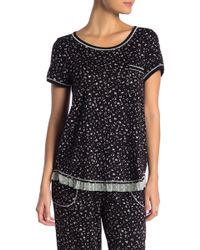 Kensie - Printed Chest Pocket Pajama Tee - Lyst