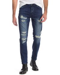 Neuw - Ray Distressed Tapered Jeans - Lyst