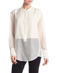 d2425b016031b8 Lyst - Jason Wu Chalk Silk Scarf Blouse in White
