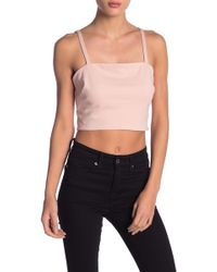 Material Girl - Cropped Ponte Knit Tank Top - Lyst