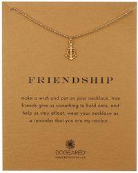Dogeared - 14k Gold Vermeil Friendship Anchor Heart Necklace - Lyst