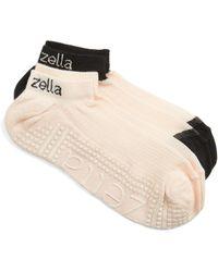 Zella - 2-pack Studio Ankle Socks, Pink - Lyst