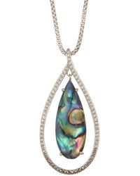 Judith Jack - Sterling Silver Orbital Abalone Pendant Necklace - Lyst