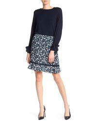 Joe Fresh | Floral Print Crepe Skirt | Lyst