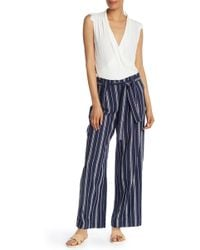 Laundry by Shelli Segal - Striped Wide-leg Cropped Pants - Lyst