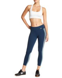 New Balance | Cropped Tights With Mesh Paneling | Lyst