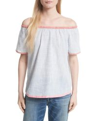 Soft Joie - Mikina Off The Shoulder Cotton Top - Lyst