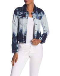 921c6954b8a6b Lyst - RACHEL Rachel Roy Bobbi Snap-sleeve Denim Jacket in Blue