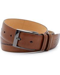 Mezlan - Brogued Leather Belt - Lyst