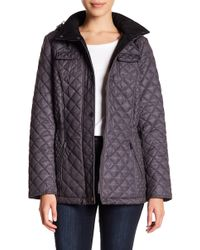 Laundry by Shelli Segal - Straight Quilted Jacket - Lyst