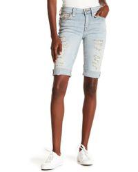 True Religion - Curvy Knee Length Shorts - Lyst