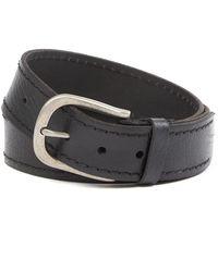 Frye - Flat Panel Leather Belt - Lyst