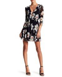 Lush - Floral Mesh Mini Dress - Lyst