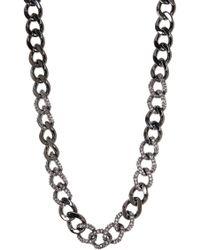 CZ by Kenneth Jay Lane - Cz Curb Link Necklace - Lyst