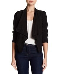 Cole Haan - Suede Draped Jacket - Lyst