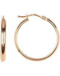 Bony Levy - 14k Yellow Gold 20mm Hoop Earrings - Lyst