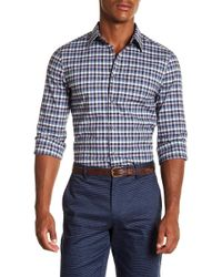 Perry Ellis - Checked Slim Fit Long Sleeve Woven Shirt - Lyst