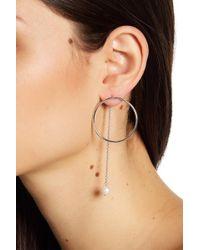 Liberty - Sterling Silver & 8mm Freshwater Pearl Drop Post Earrings - Lyst
