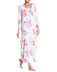 Carole Hochman - Long Sleeve Printed Night Gown - Lyst