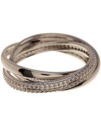 Nadri - Trinity Eternity Pave Cz Ring - Size 8 - Lyst