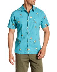 Ambsn - Pete Short Sleeve Tailored Fit Shirt - Lyst