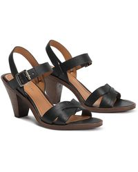 Trask - Summer Cone Heel Leather Sandal - Lyst