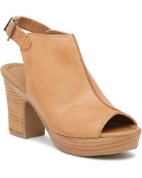 Kenneth Cole Reaction - Tole-tally Leather Platform Sandal - Lyst