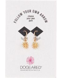 Dogeared - Follow Your Own Arrow Star Dangle Earrings - Lyst