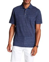 Tailor Vintage - Linen Woven Pocket Front Polo - Lyst